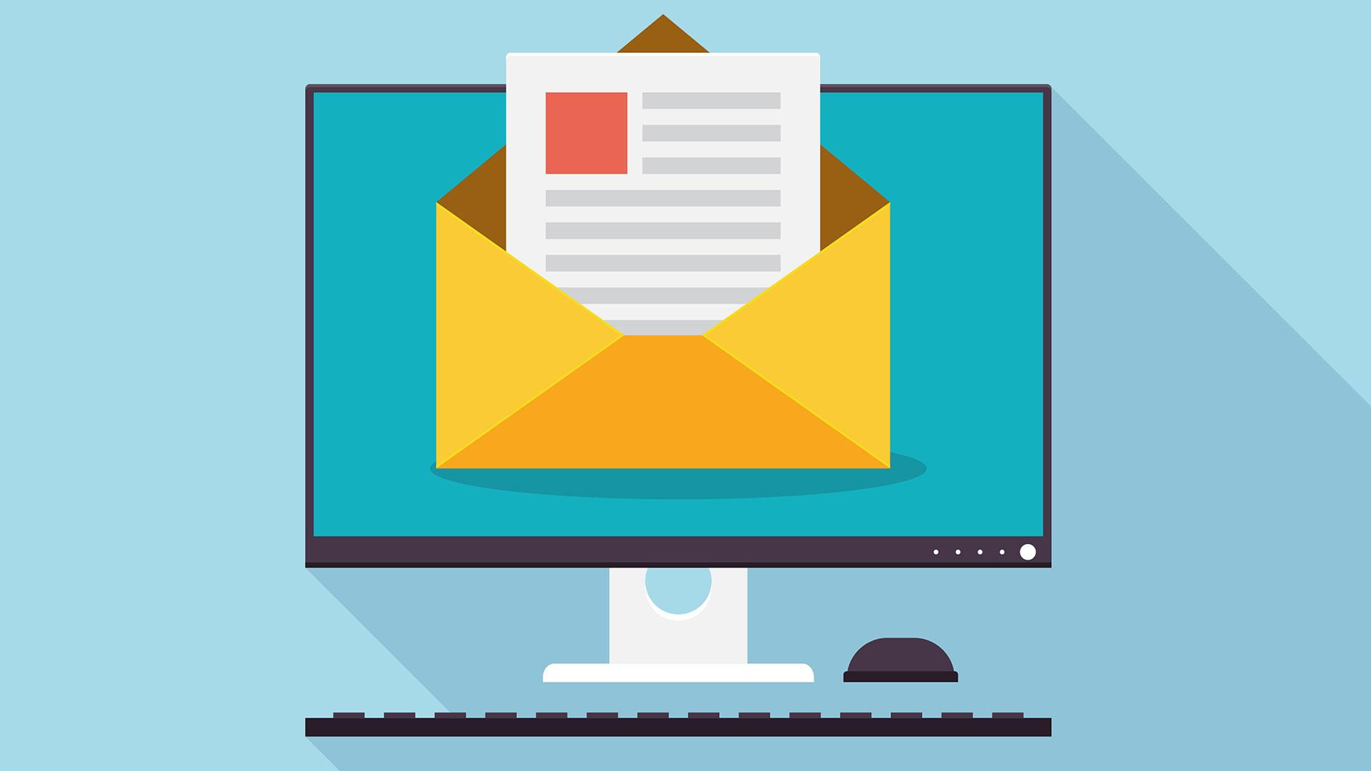 caixa de e-mails da hospedagem de site