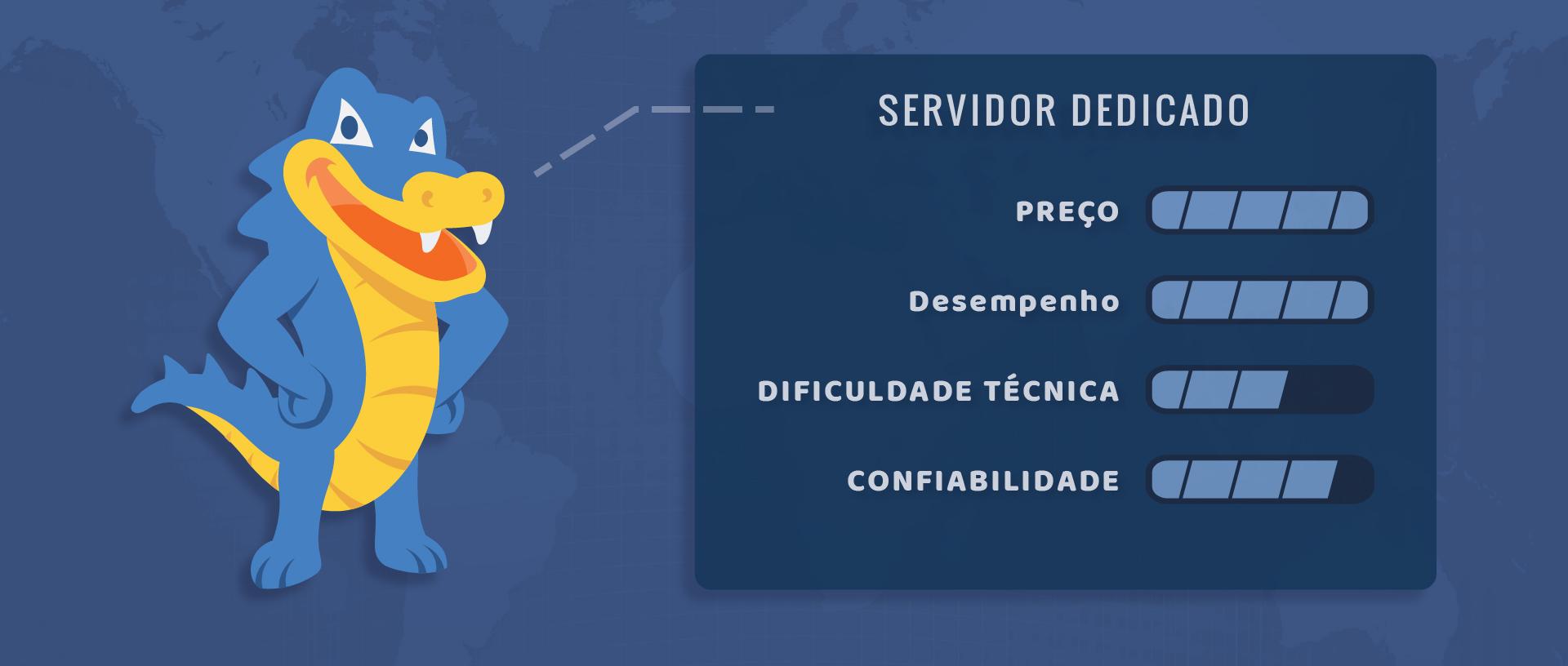 HostGator servidor dedicado Avaliação