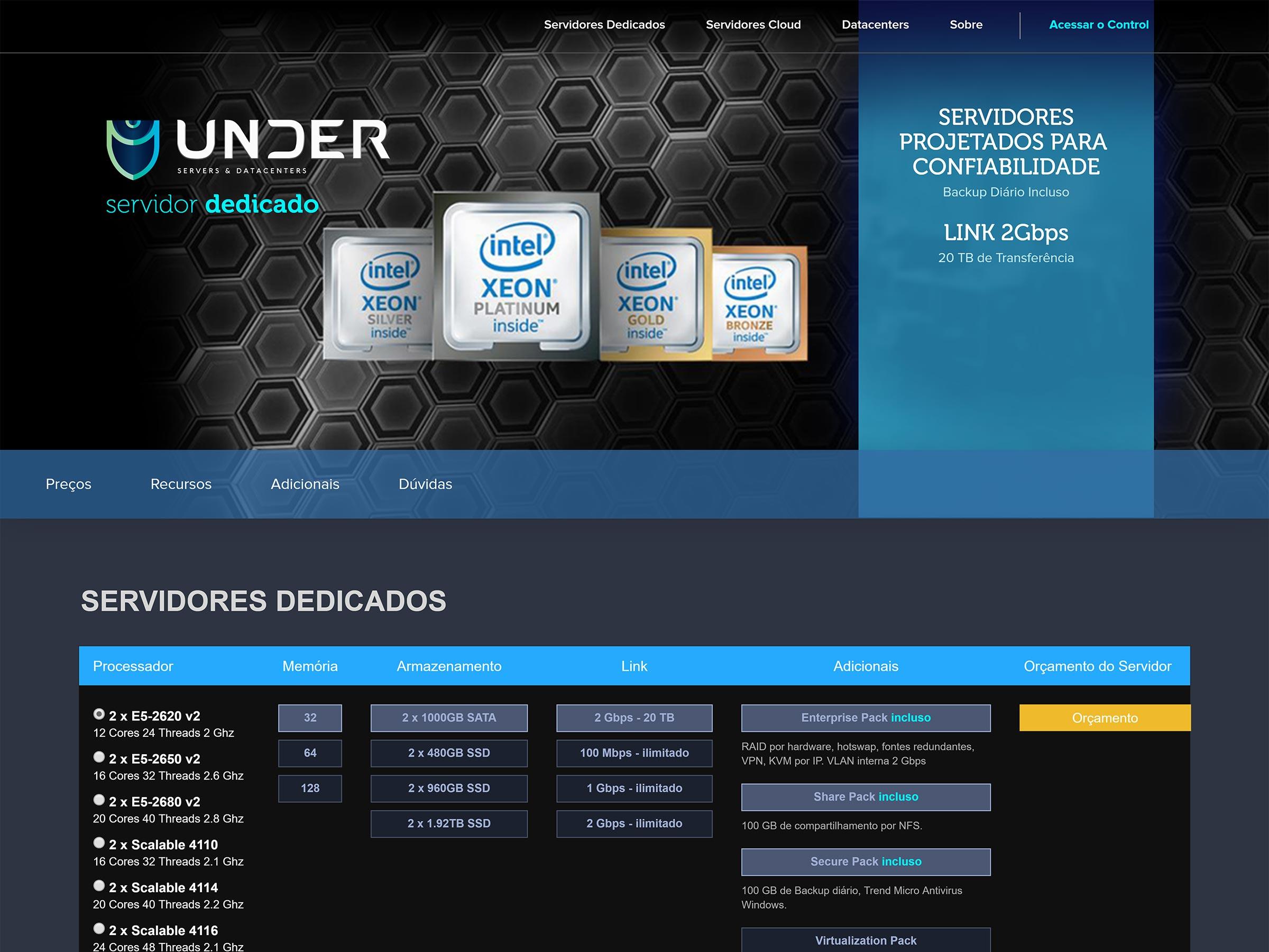 servidor dedicado under