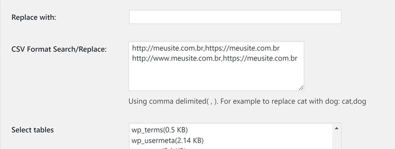 wordpress ssl alterando multiplas urls