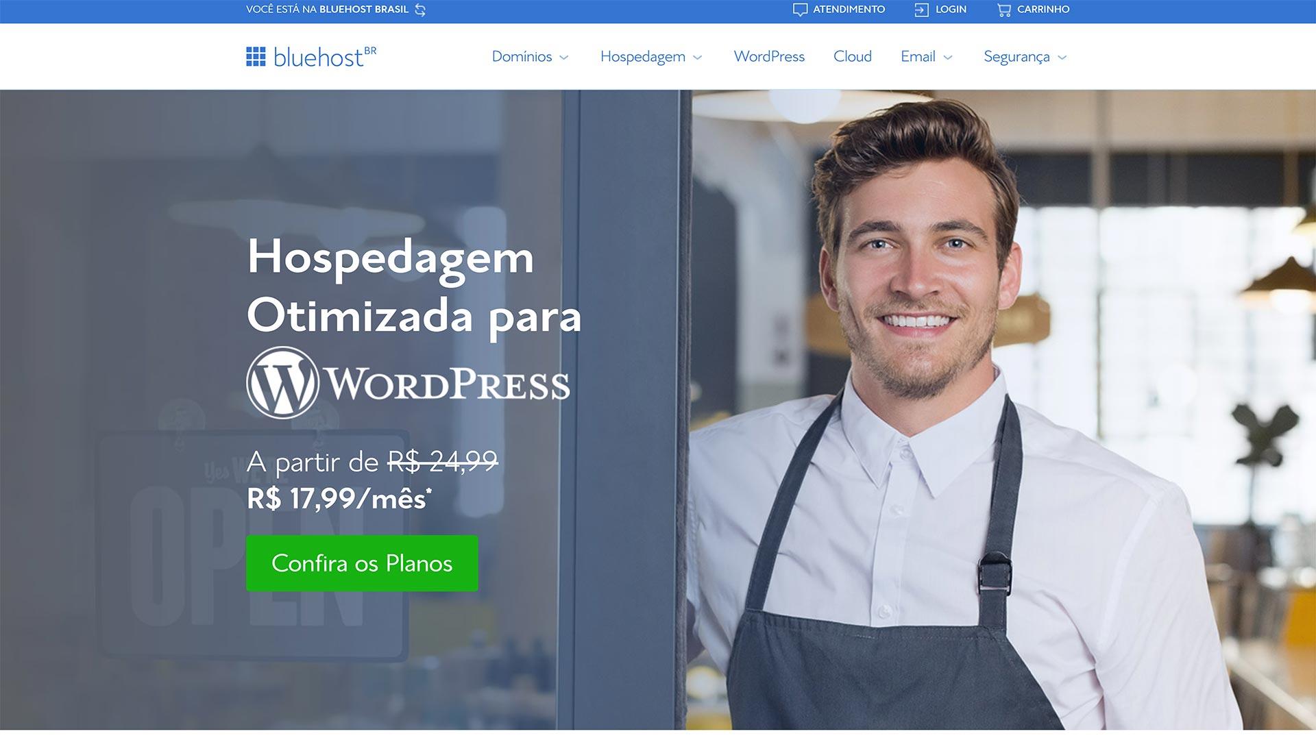 bluehost hospedagem wordpress