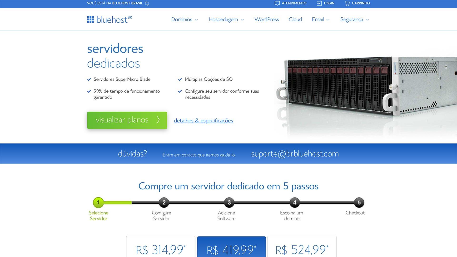bluehost servidor dedicado