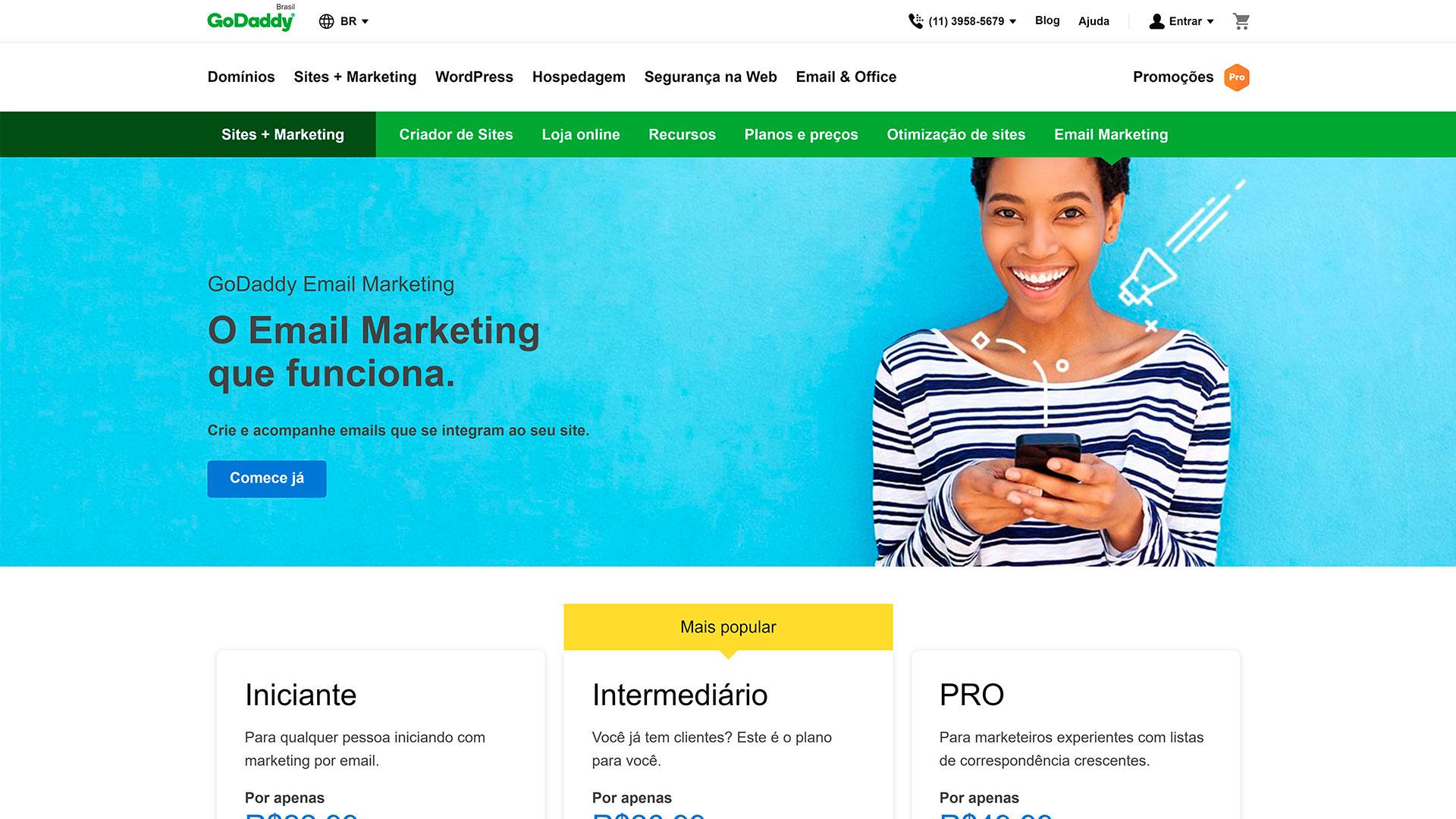 godaddy review e mail marketing