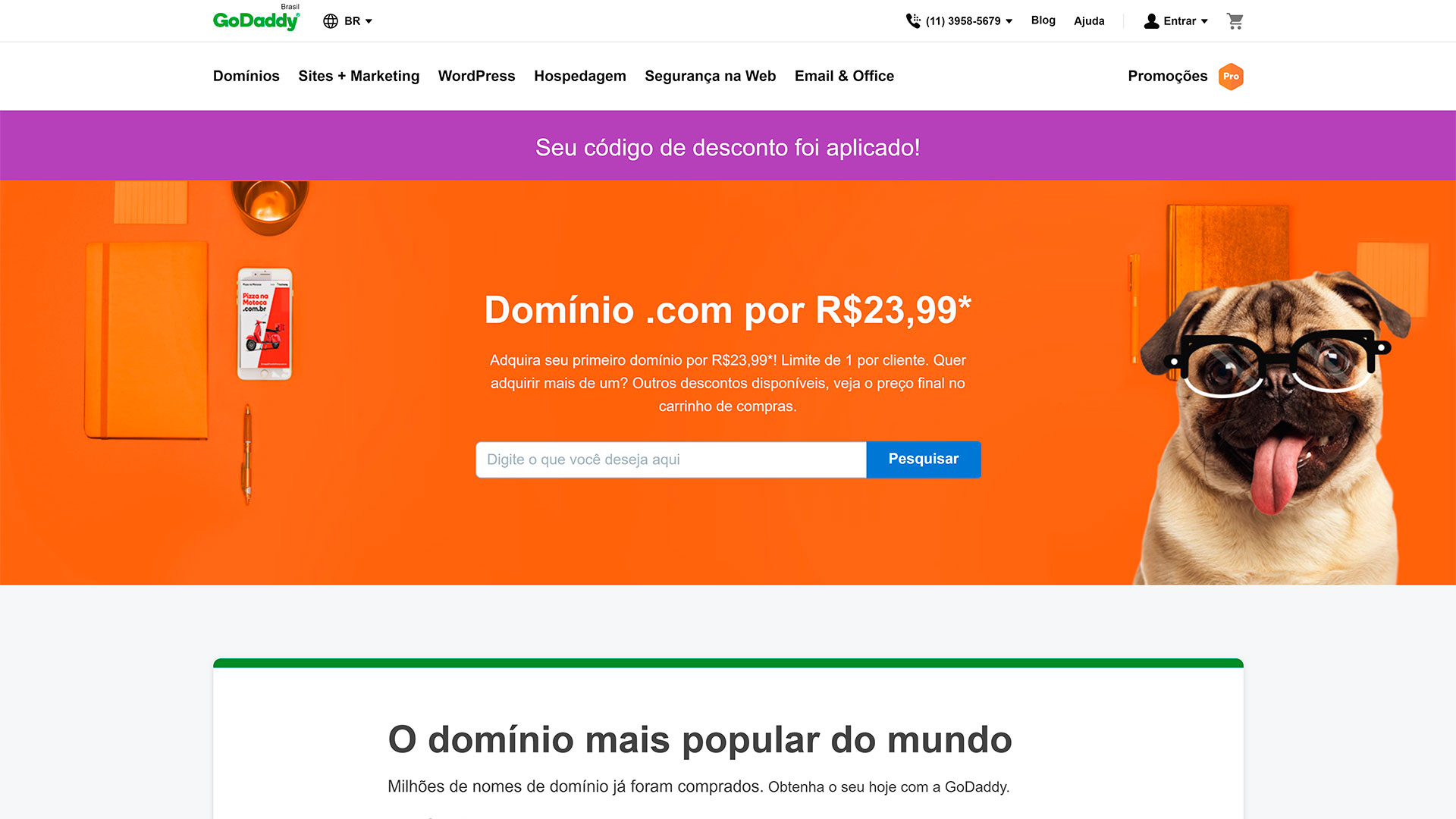 godaddy review registro de dominios
