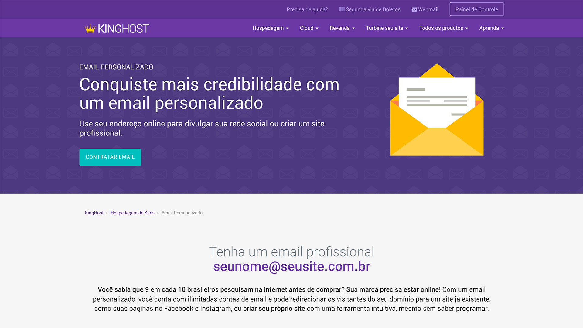 kinghost review e mail profissional