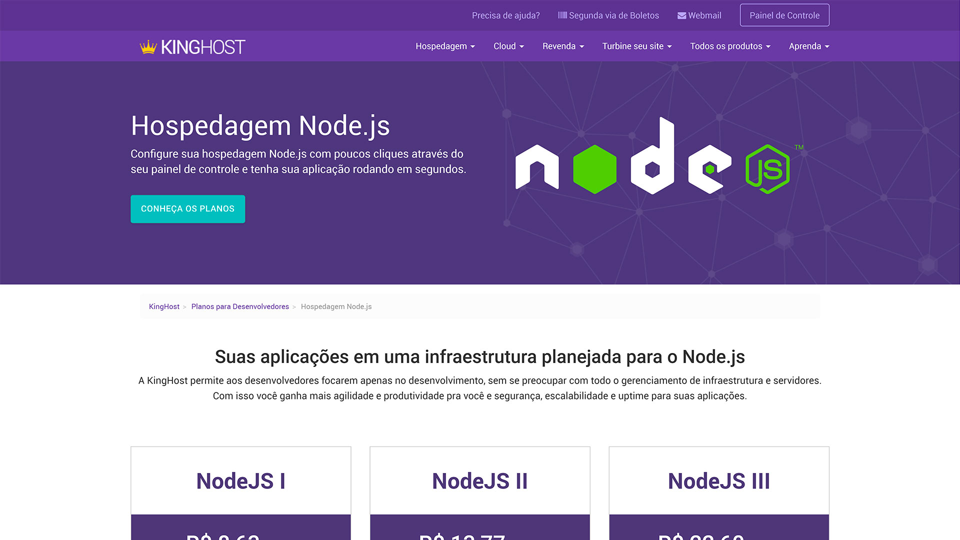 kinghost review hospedagem nodejs