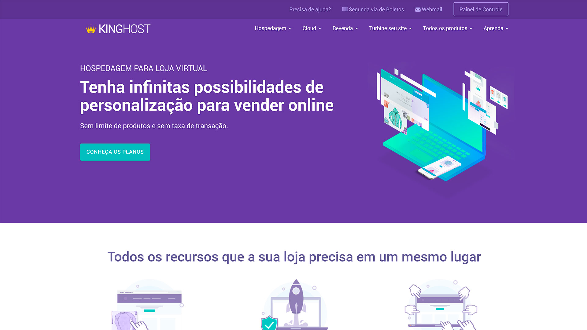 kinghost review loja virtual