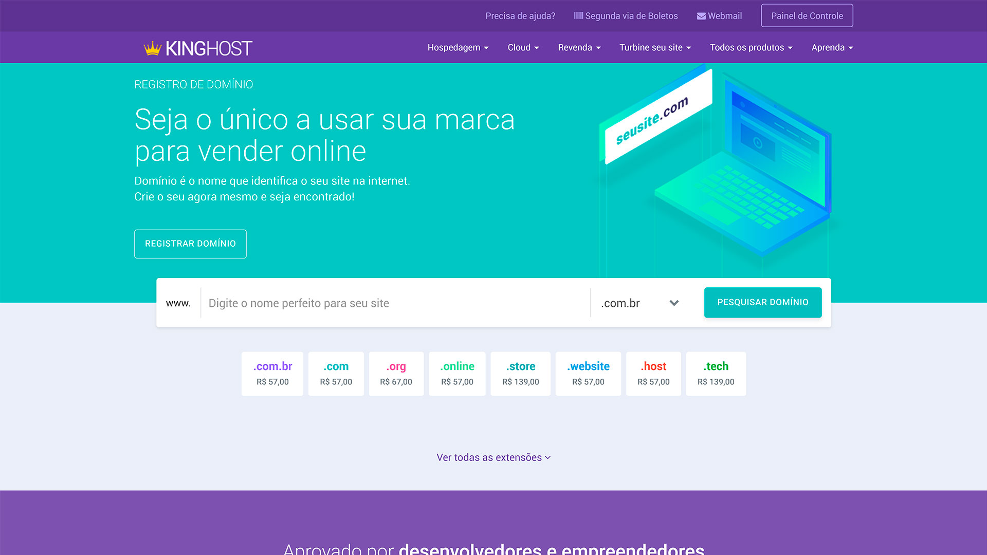 kinghost review registro de dominio