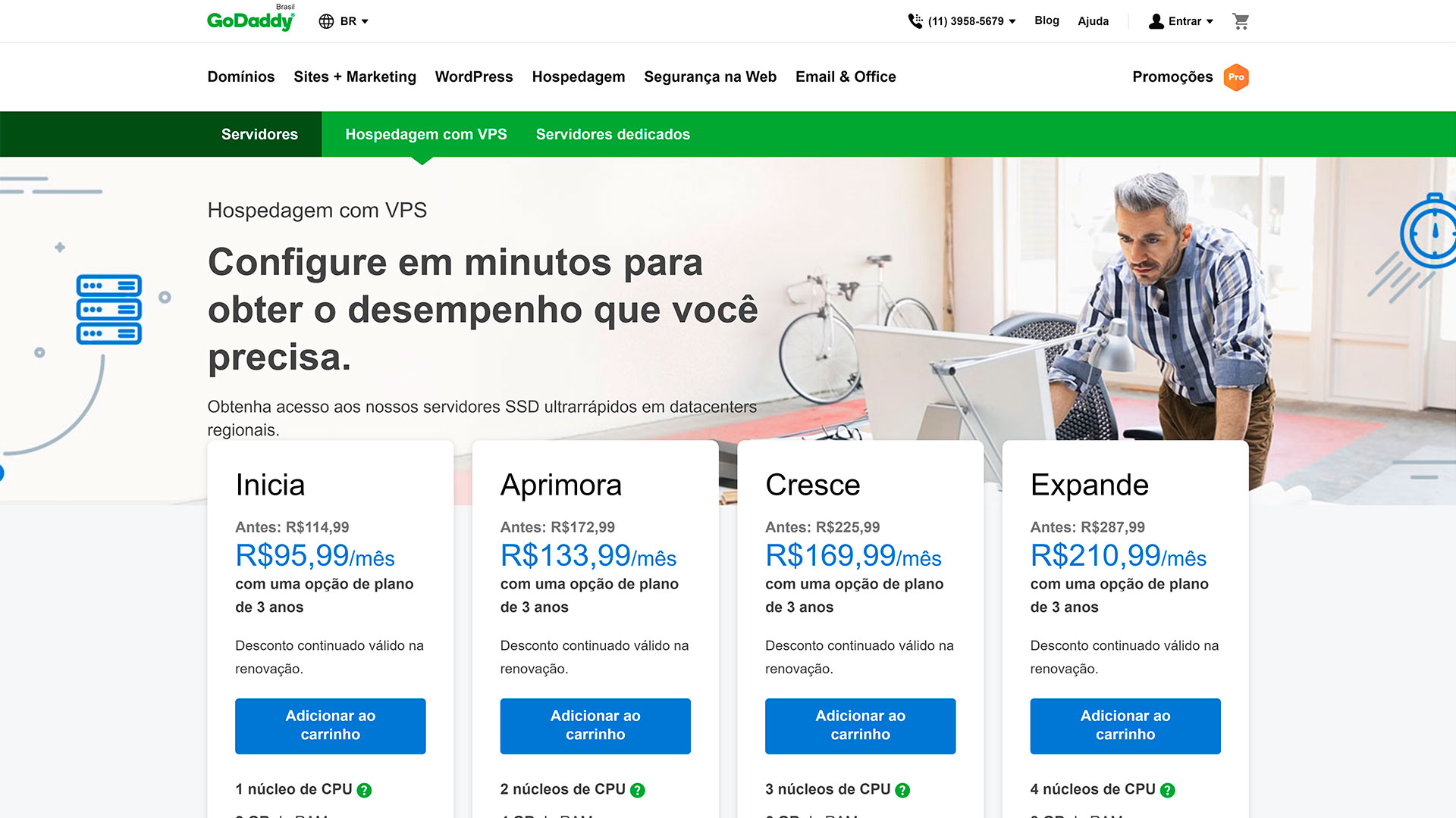 review godaddy servidor vps linux