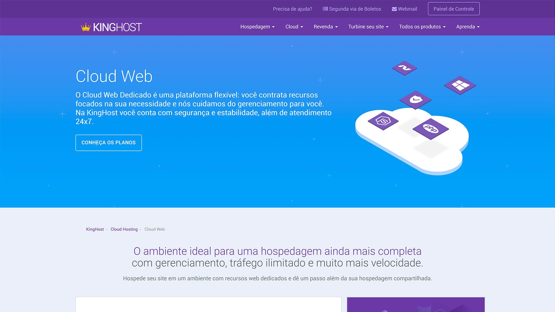 review kinghost cloud web