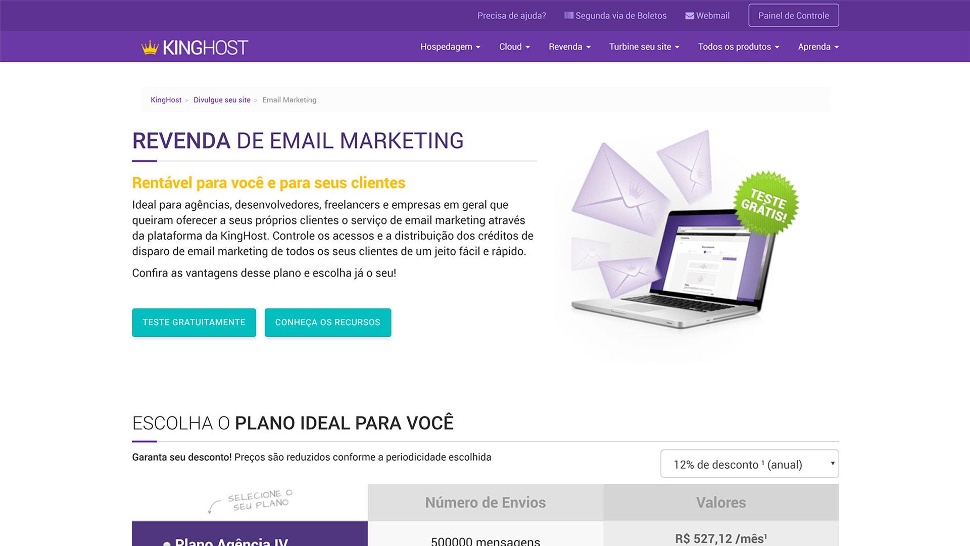 review kinghost e mail marketing revenda
