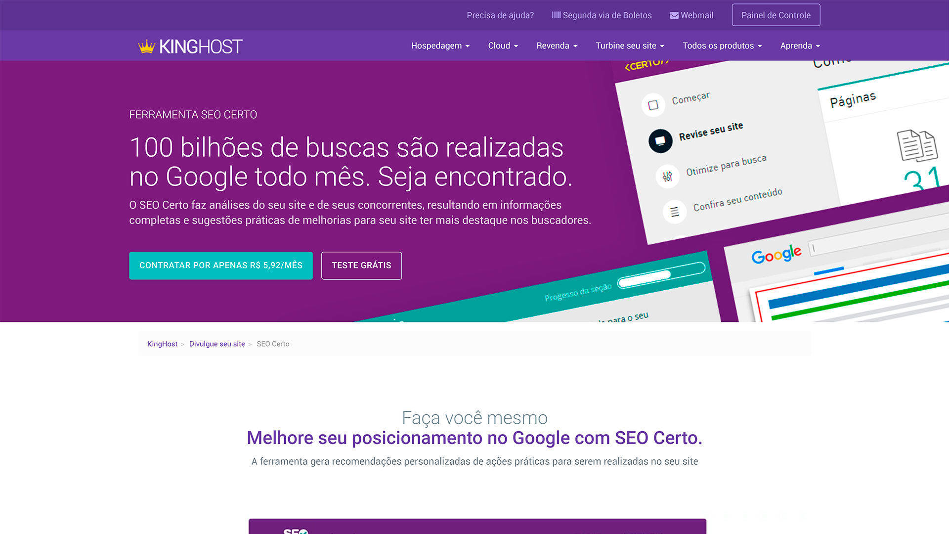 review kinghost seo certo