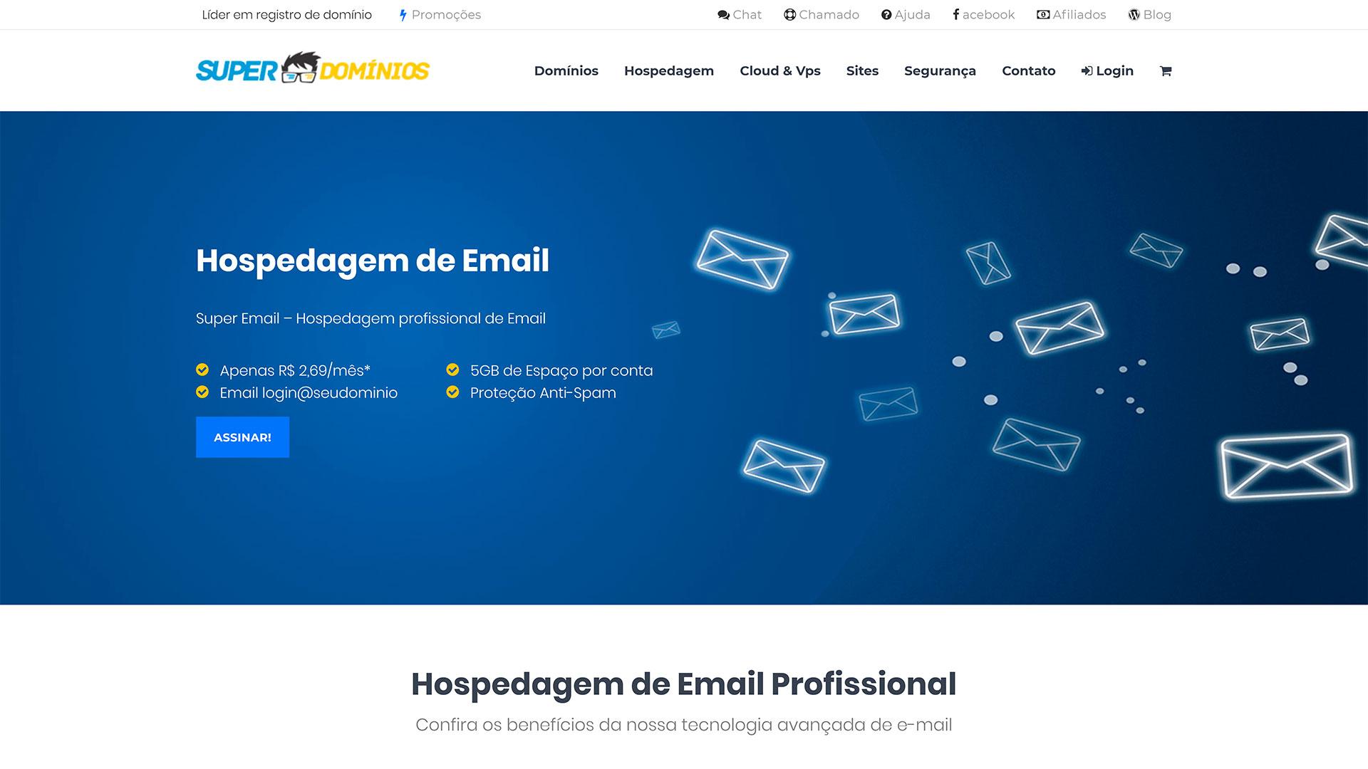Super Domínios.org - hospedagem de e-mail