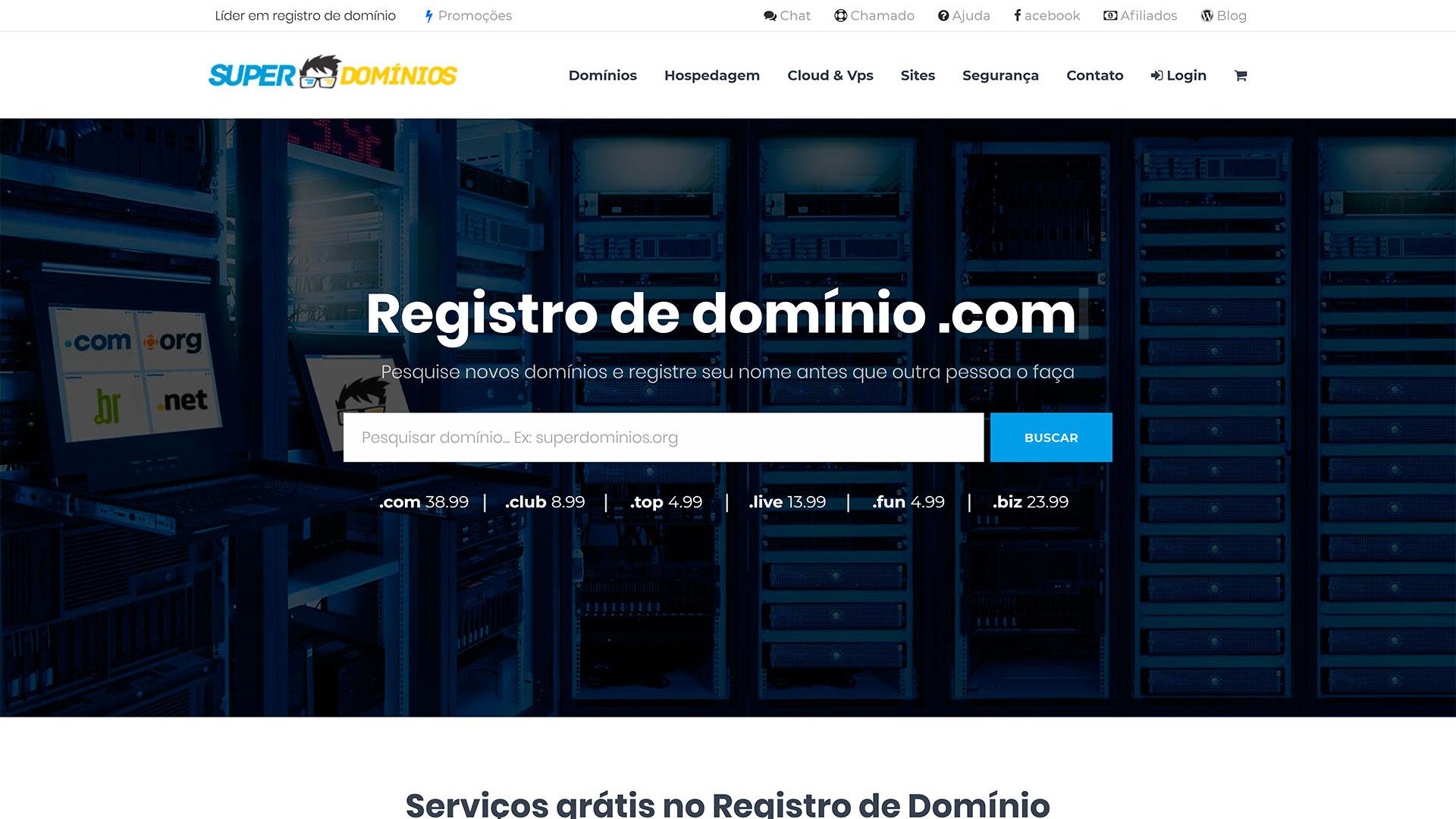 Super Domínios.org - registro de domínios
