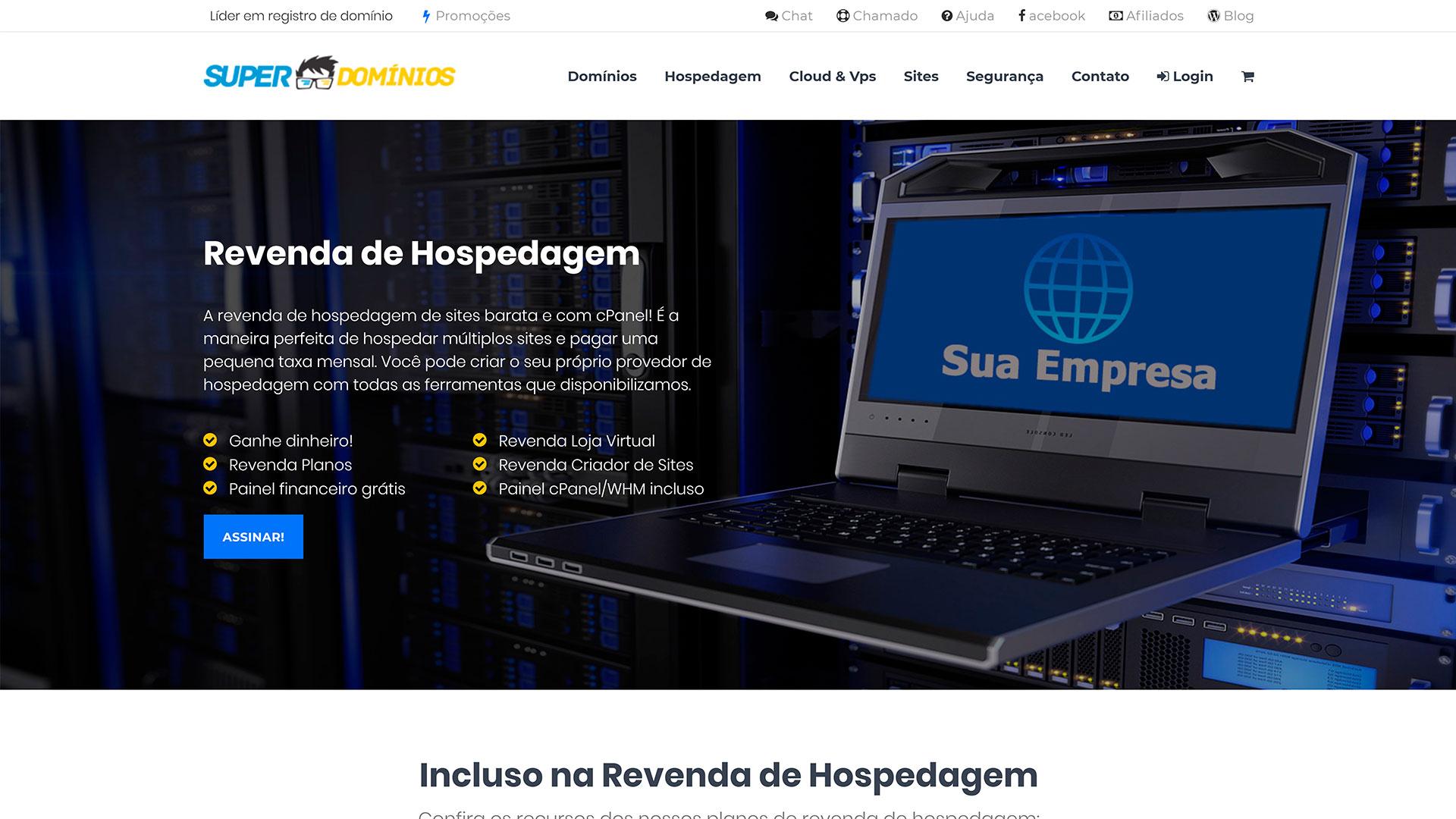 Super Domínios.org - revenda de hospedagem