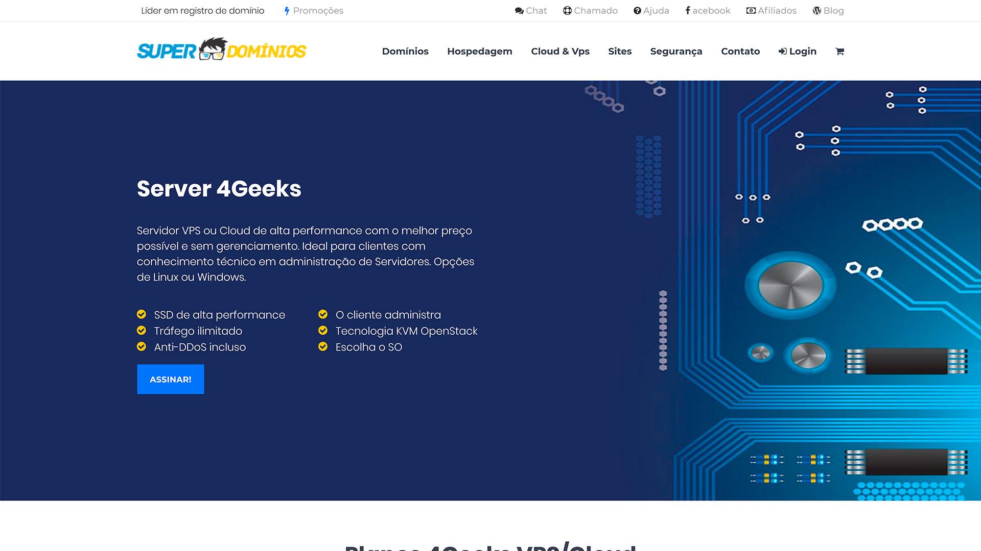 Super Domínios.org - servidor vps sem gerenciamento