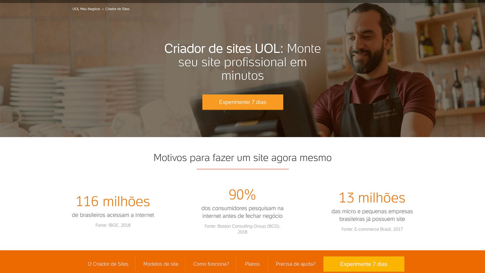 UOL Host criador de sites