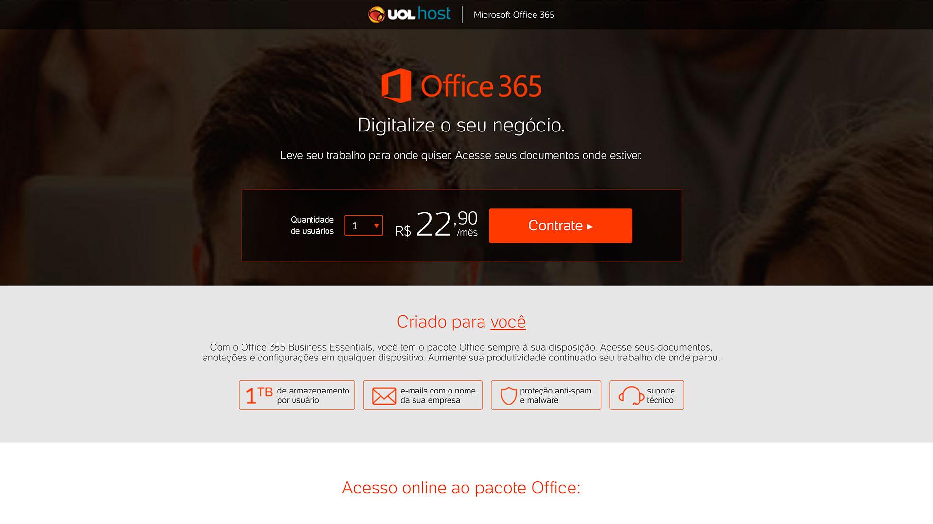 uol host microsoft office 365